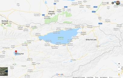 Issy Kul Area Map