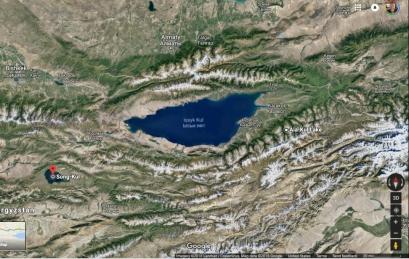 Issyl Kul Area Sat Map