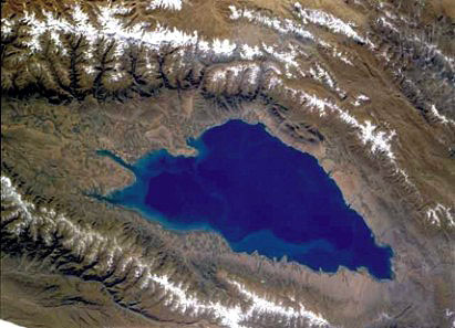Lake Issyk Kul from Space