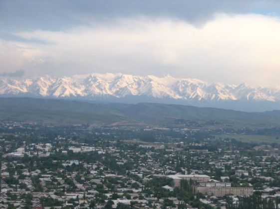 Snowy-mountains-outside-Osh-Kyrgyzstan