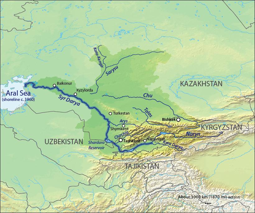 Syr Darya Map