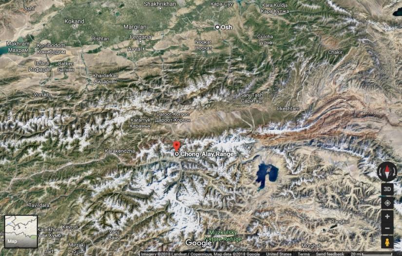 Trans-Alay Range Google Earth