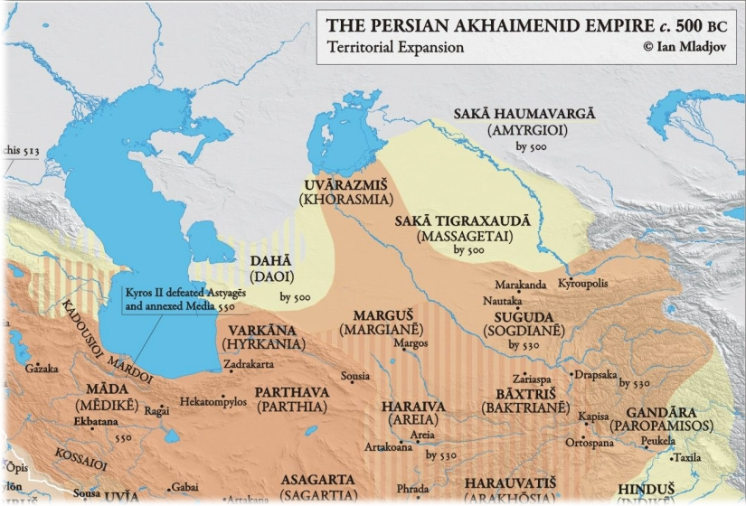 Achaemenid Empire Northeast Map.jpg