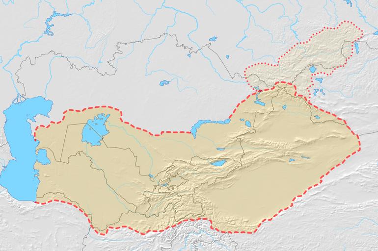 Turkestan Map