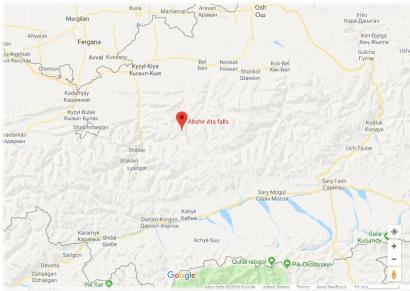 Abshir Ata Falls Map