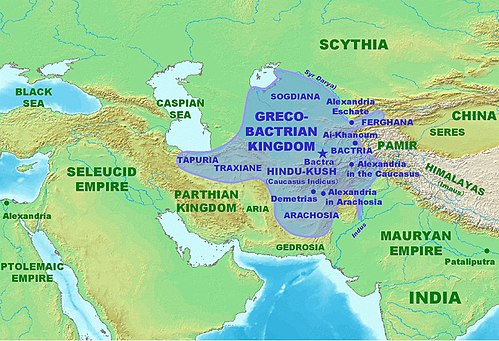 Greco-Bactrian Kingdom Map