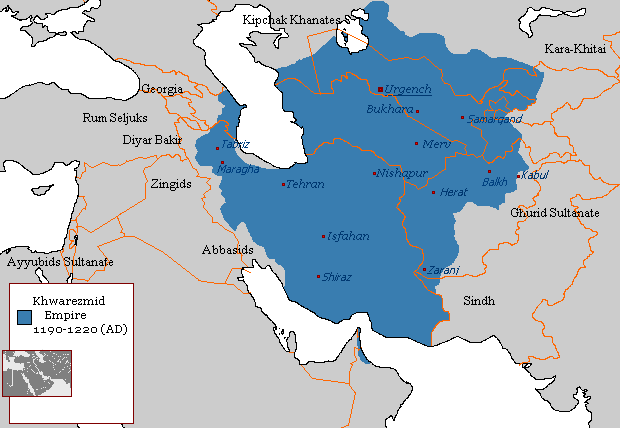 Khwarazmian Empire Map
